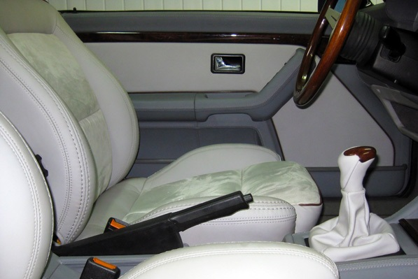 Перетяжка салона автомобиля Audi 80 Cabrio Тюнинг ателье Raywell